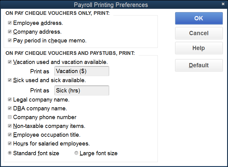 QB Payroll  Employees Preferences 2
